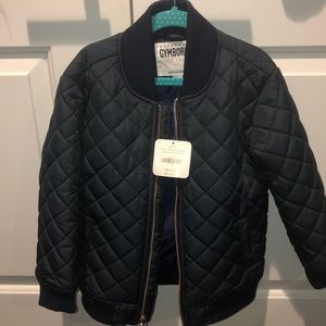 Brand new navy quilted jacket